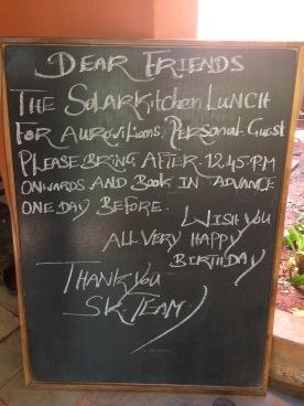 Solar Kitchen rules