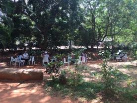 Aurovillans dine quietly